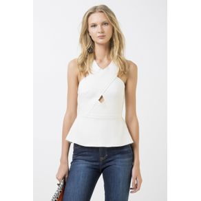 Blusa Decote X Off White - P