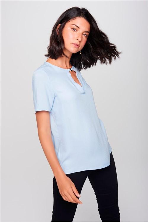 Blusa Detalhe Decote Feminina