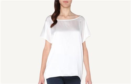 Blusa em Seda e Modal - Off-White M