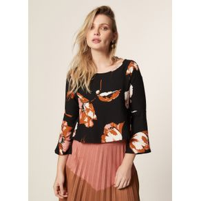 BLUSA ESTAMPA FLORAL GOLD Estampado - G