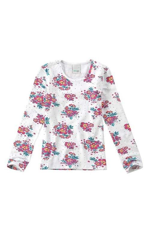 Blusa Estampada Menina Malwee Kids Branco - 16