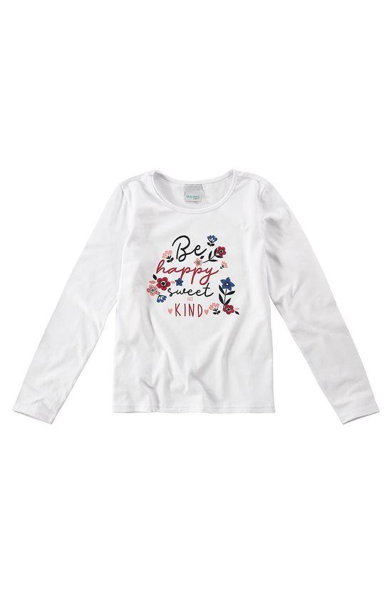 Blusa Estampada Menina Malwee Kids Branco - 2