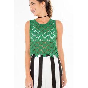 Blusa Estrelinhas Verde Bandeira - P