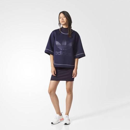 Blusa Feminina Adidas NMD Reversível 2 em 1 Rosa e Azul BR9366