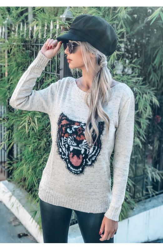 BLUSA FLAME TIGRE Off White