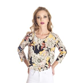 Blusa Floral Cropped Colcci M