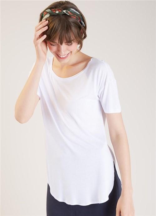 Blusa Fraldada Malha Viscose Branco P