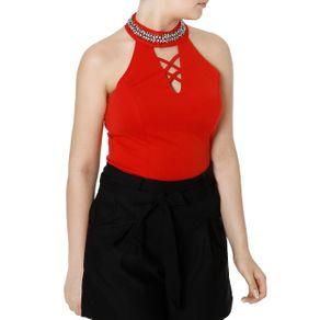 Blusa Frente Única Feminina Vermelho M