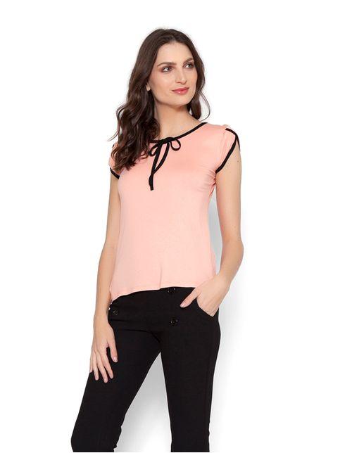 Blusa Galão Laço Decote Rosa G
