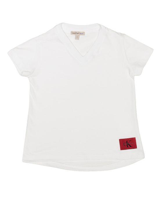 Blusa Infantil Calvin Klein Jeans com Etiqueta ExteRNa Branco - 4