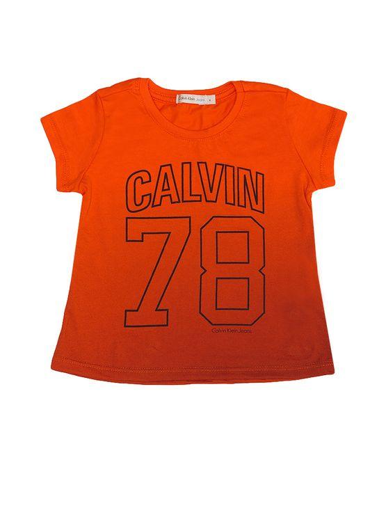 Blusa Infantil Calvin Klein Jeans Degradê Laranja - 2