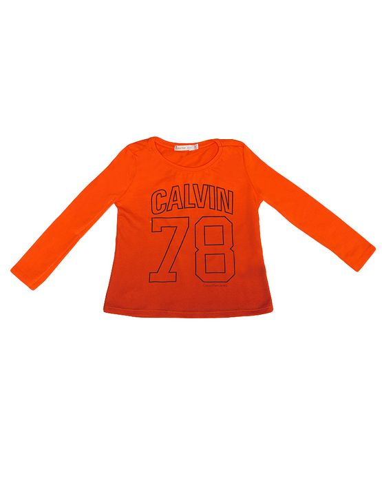 Blusa Infantil Calvin Klein Jeans em Degradê Laranja - 2