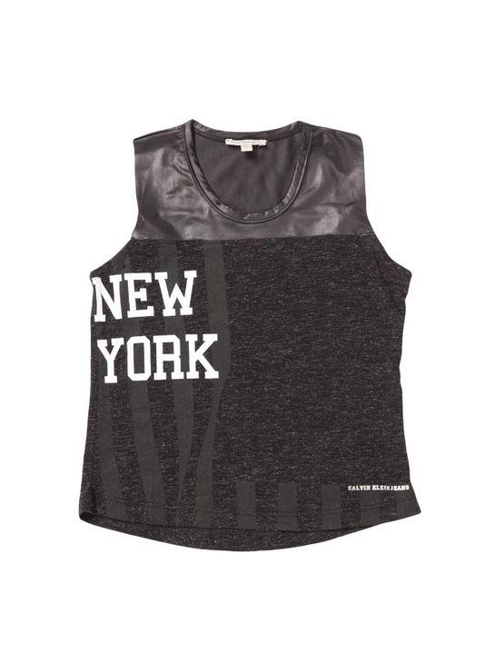 Blusa Infantil Calvin Klein Jeans New York Preto - 4