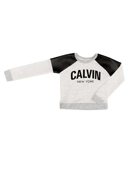Blusa Infantil Calvin Klein Jeans Recortes Cirré Mescla - 4