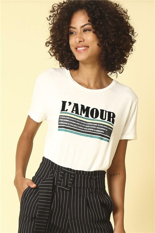 Blusa L'Amour - Branco Tamanho: GG