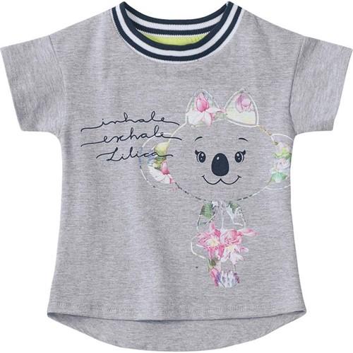Blusa Lilica Ripilica Cinza Bebê Menina