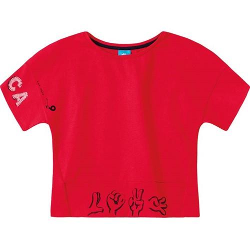 Blusa Lilica Ripilica Vermelha Bebê Menina