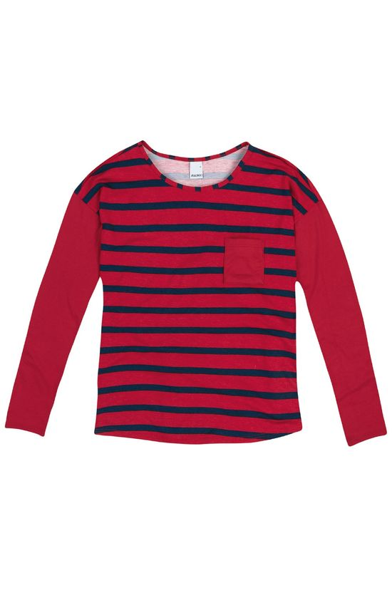 Blusa Listrada Malwee Vermelho - G