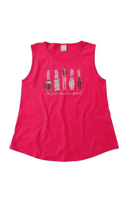 Blusa Malha Estampada Malwee Rosa Escuro - G