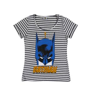 Blusa Manga Curta Batman Juvenil para Menina - Azul 16