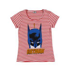 Blusa Manga Curta Batman Juvenil para Menina - Vermelho 14