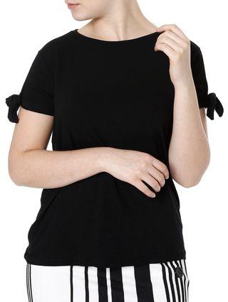 Blusa Manga Curta Feminina Preto
