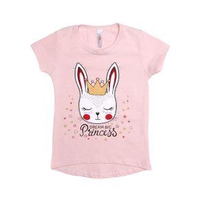 Blusa Manga Curta Infantil para Menina - Rosa 8