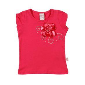 Blusa Manga Curta Infantil para Menina - Rosa 4
