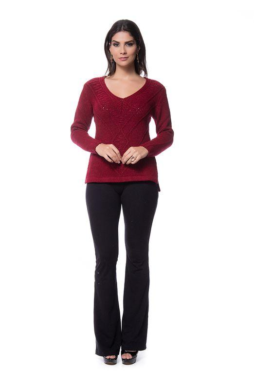 Blusa Mousse Tricot Vermelha Vermelho