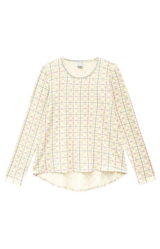 Blusa Mullet Estampada Malwee Branco - G