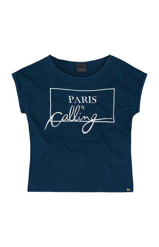 Blusa Paris Enfim Azul Escuro - G