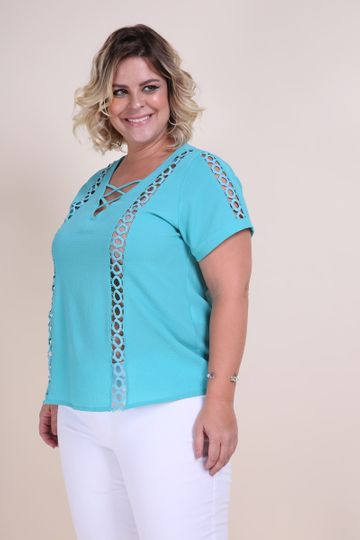 Blusa Plus Size Bubble Verde G
