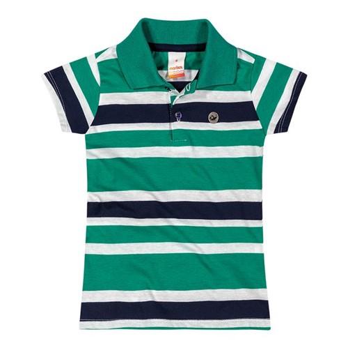 Blusa Polo Marisol Verde Menina