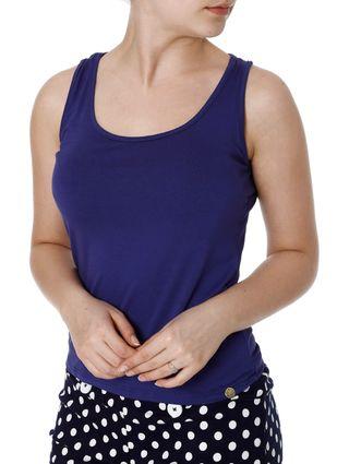Blusa Regata Feminina Autentique Azul Marinho