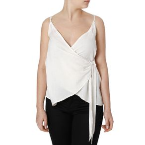 Blusa Regata Feminina Autentique Off White M
