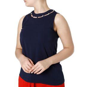 Blusa Regata Feminina Azul Marinho G