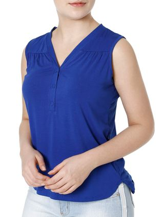 Blusa Regata Feminina Azul