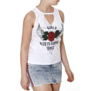 Blusa Regata Feminina Branco G