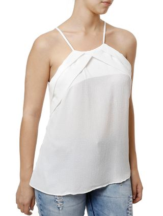 Blusa Regata Feminina Off White