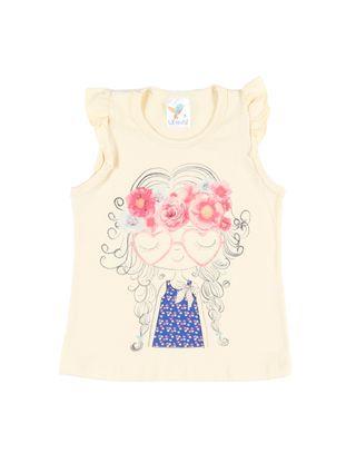 Blusa Regata Infantil para Menina - Amarelo