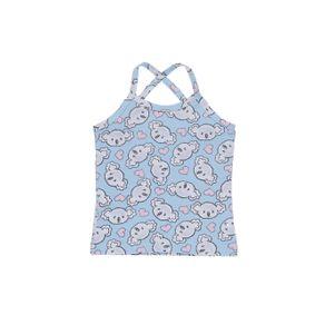 Blusa Regata Infantil para Menina - Azul 3