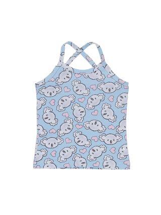 Blusa Regata Infantil para Menina - Azul