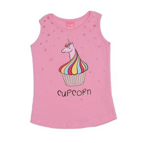 Blusa Regata Infantil para Menina - Rosa 1