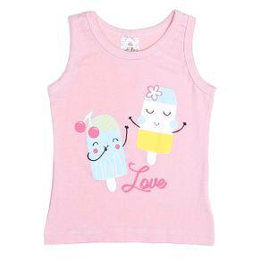 Blusa Regata Infantil para Menina - Rosa 3