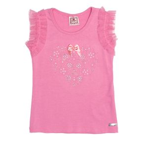 Blusa Regata Infantil para Menina - Rosa 4