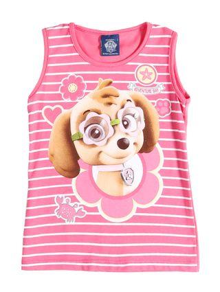 Blusa Regata Infantil para Menina - Rosa