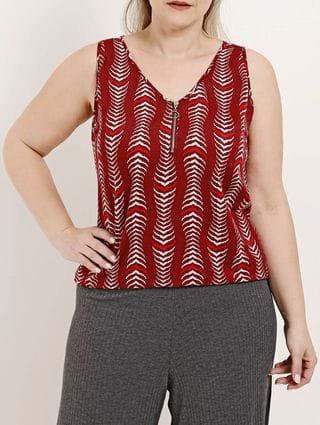 Blusa Regata Plus Size Feminina Vermelho