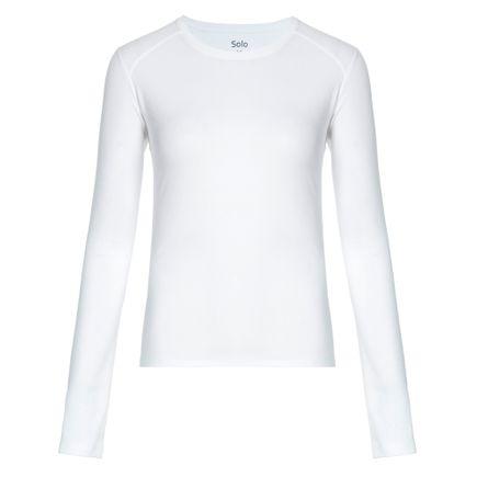 Blusa Segunda Pele Solo X-Thermo Grid Feminina Branco Tam. P