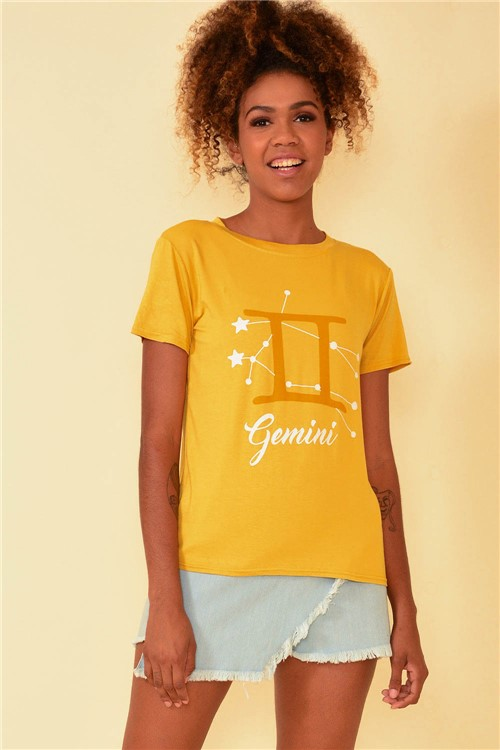 Blusa Signo Gêmeos - Amarelo Tamanho: P