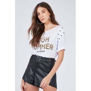 Blusa Silk High Summer Branco - M
